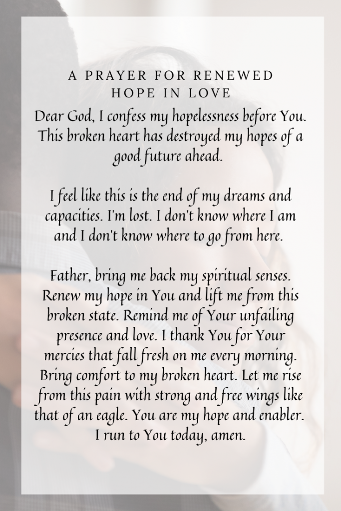 A Prayer for Renewed Hope in Love