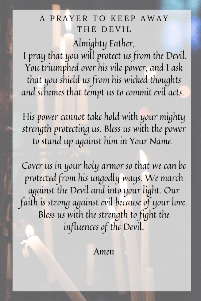 Prayer to keep away the devil