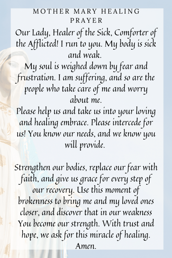 Mother Mary Healing Prayer