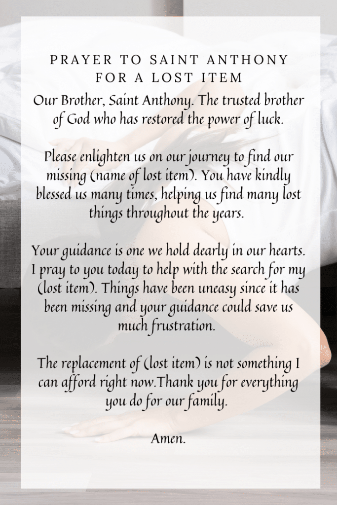 Prayer To Saint Anthony For A Lost Item