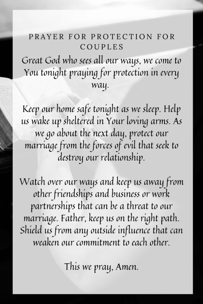 Prayer for Protection for Couples
