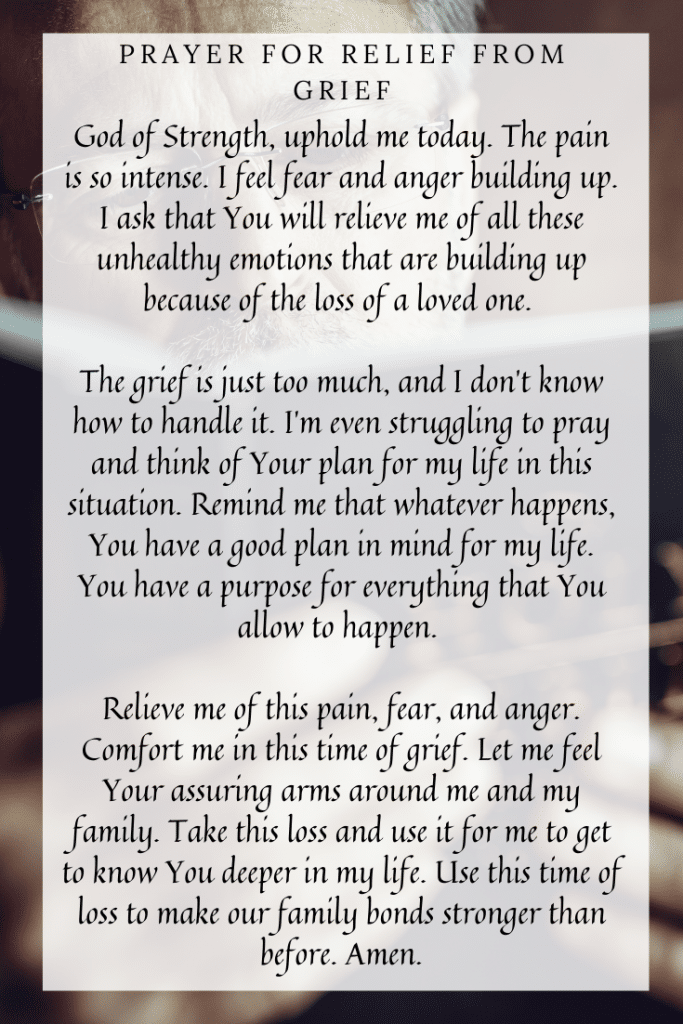 Prayer for Relief from Grief