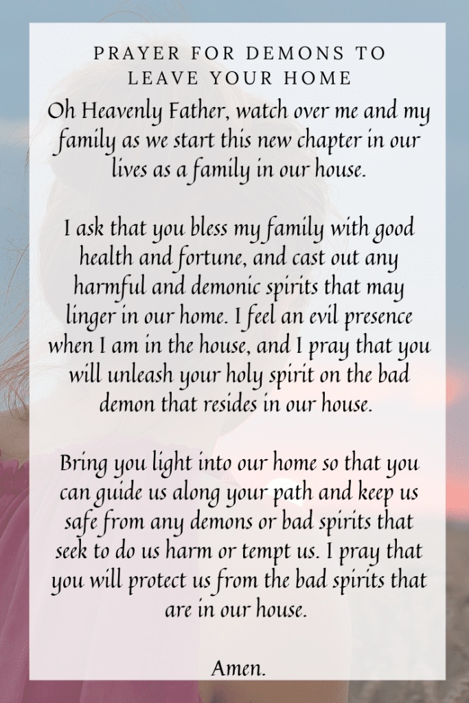 Prayer for demons to Leave Your Home