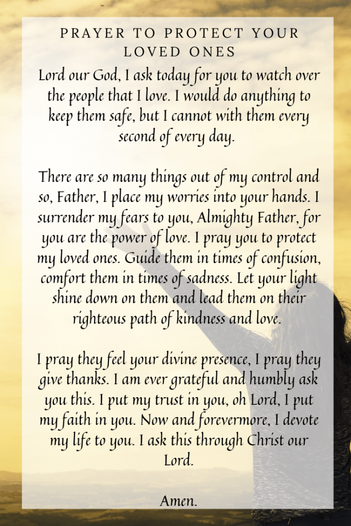 Prayer to Protect Your Loved Ones