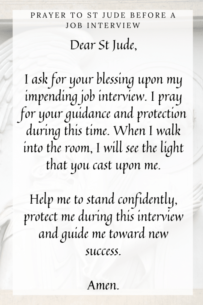 Prayer to St Jude Before a Job Interview