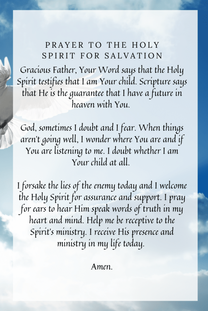 Prayer to the Holy Spirit for Salvation