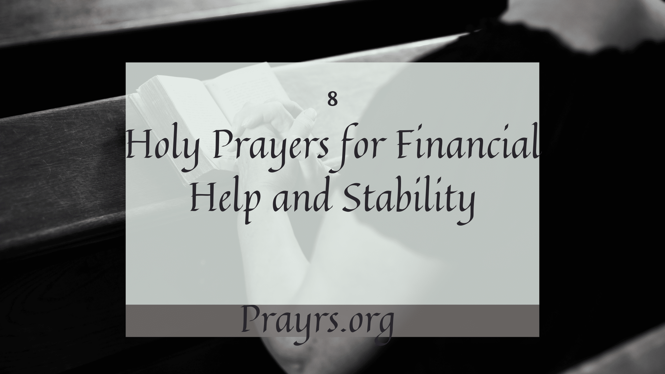 Prayers for Financial Help and Stability