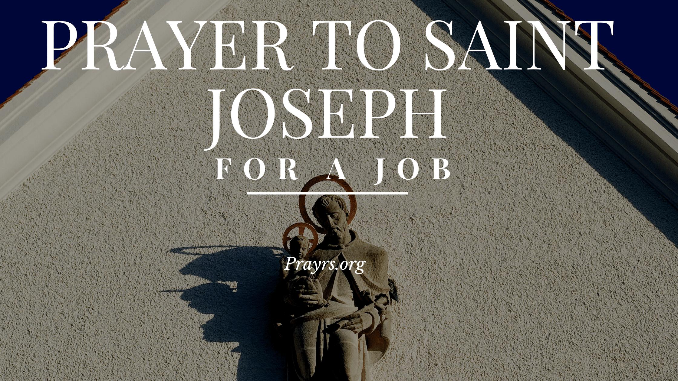 Prayers to St Joseph for a Job