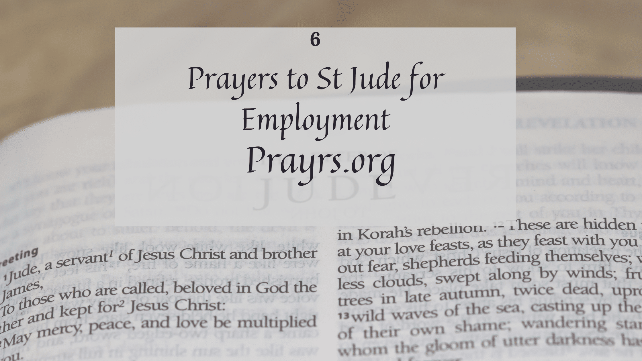 Prayers to St Jude for Employment