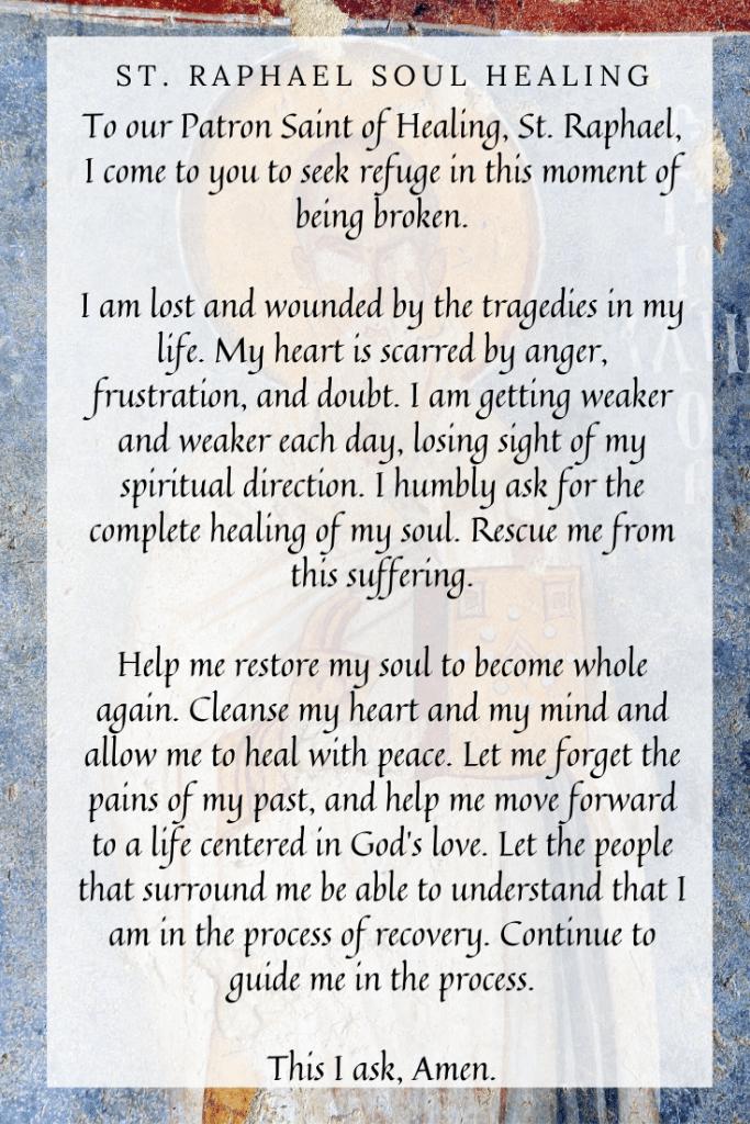 St. Raphael healing prayer