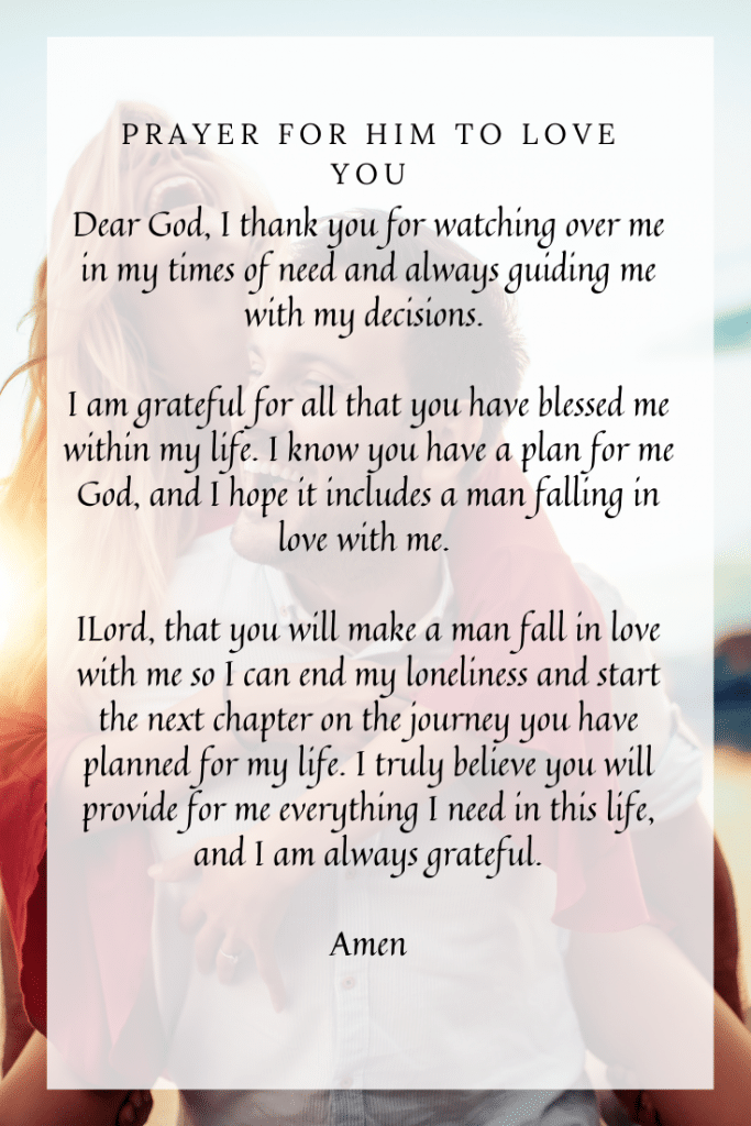 prayer for a man to fall in love with you