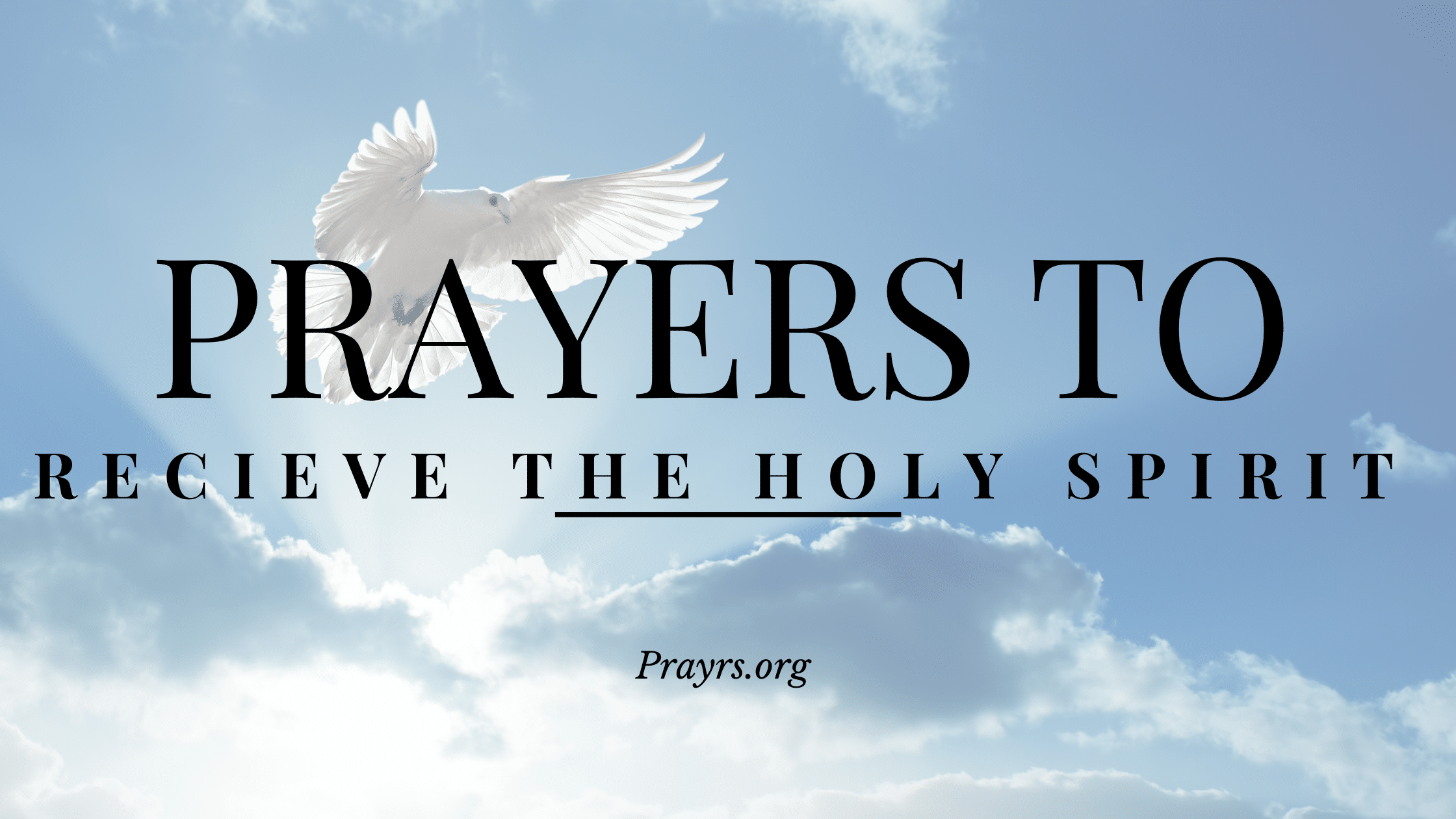 prayer to receive the holy spirit