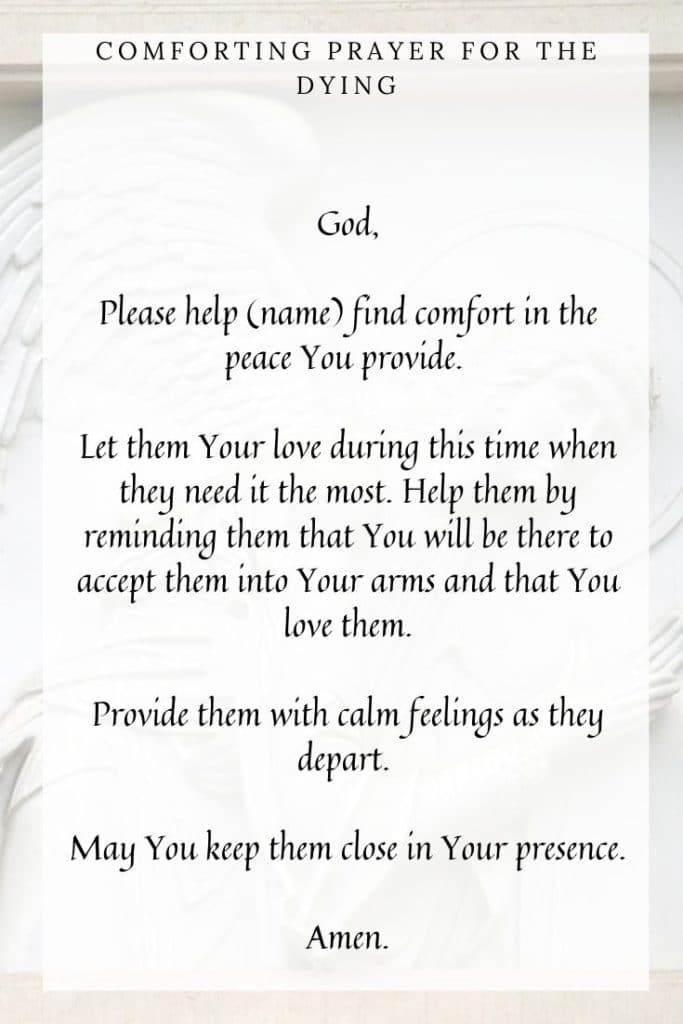 Comforting Prayer for the Dying