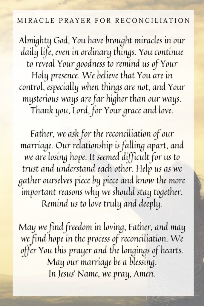 Miracle Prayer for Reconciliation