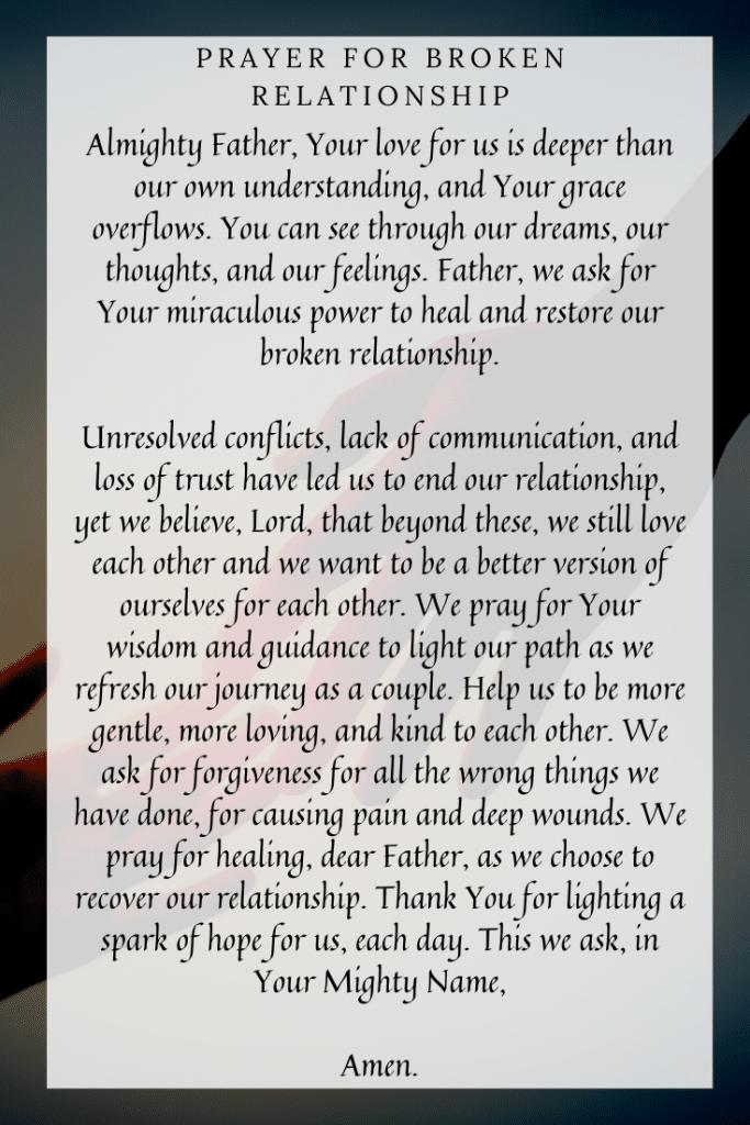 Prayer for Broken Relationship