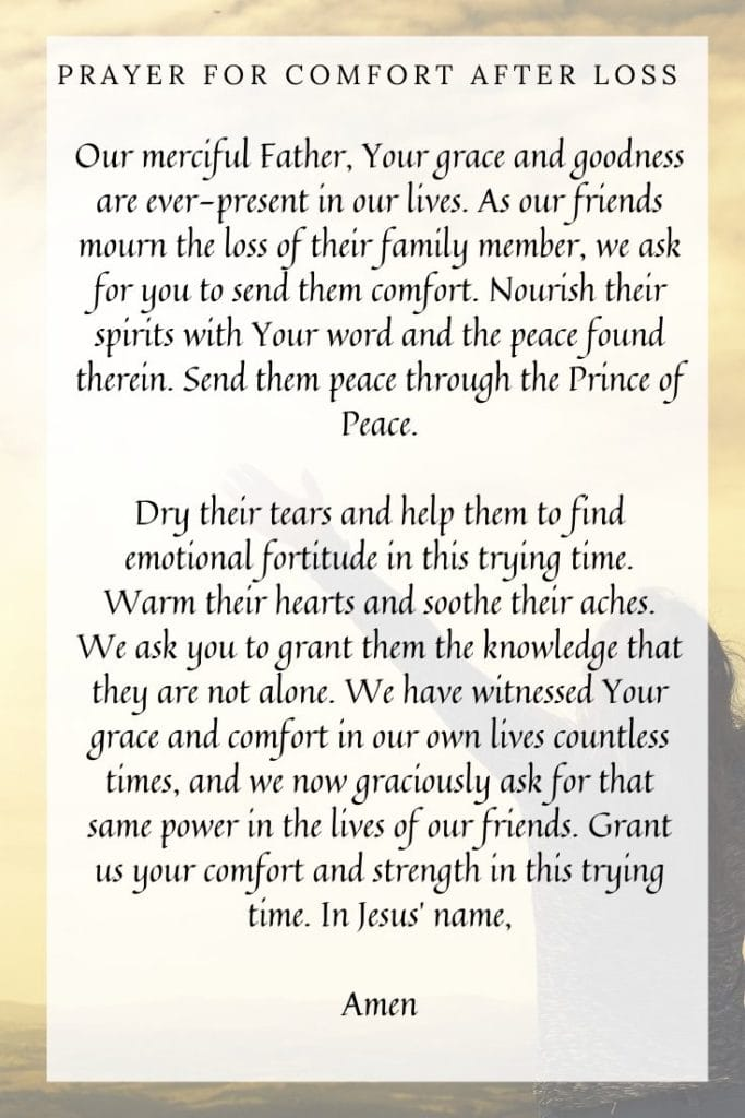 Prayer for Comfort After Loss
