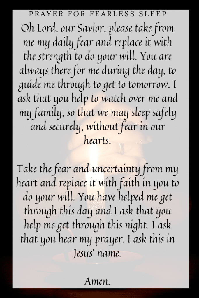 Prayer for Fearless Sleep