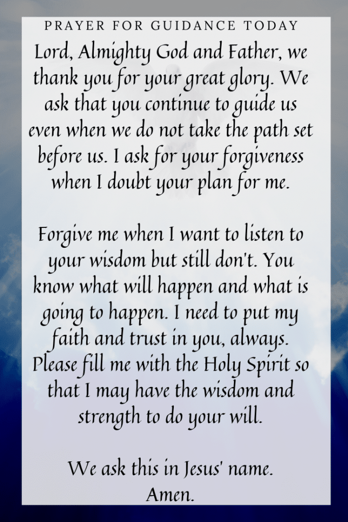 Prayer for Holy Spirit Guidance Today