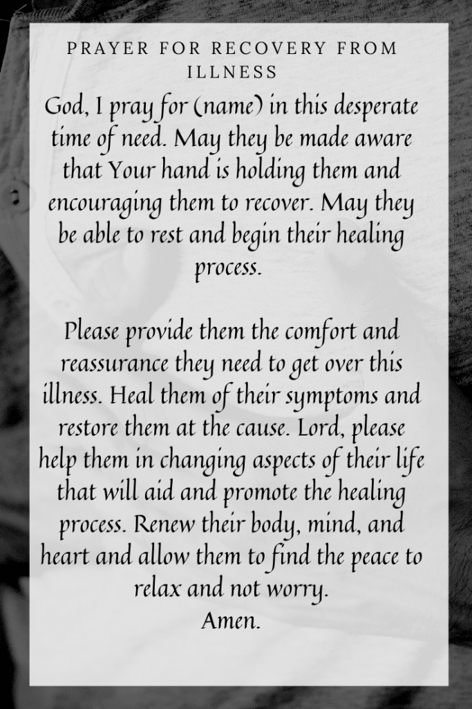 Prayer for Recovery from Illness