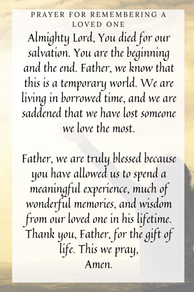 Prayer for Remembering a Loved One