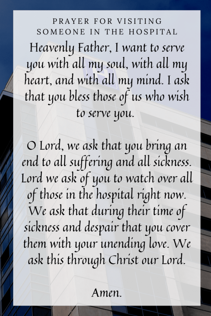 Prayer for Visiting Someone in the Hospital