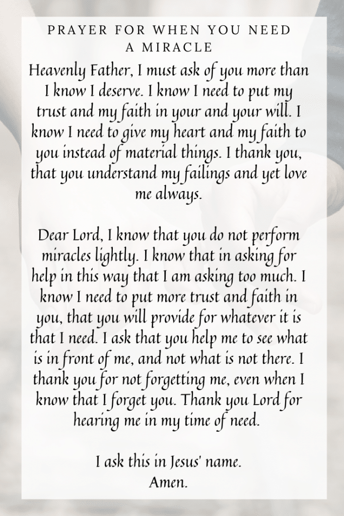 Prayer for When You Need a Miracle