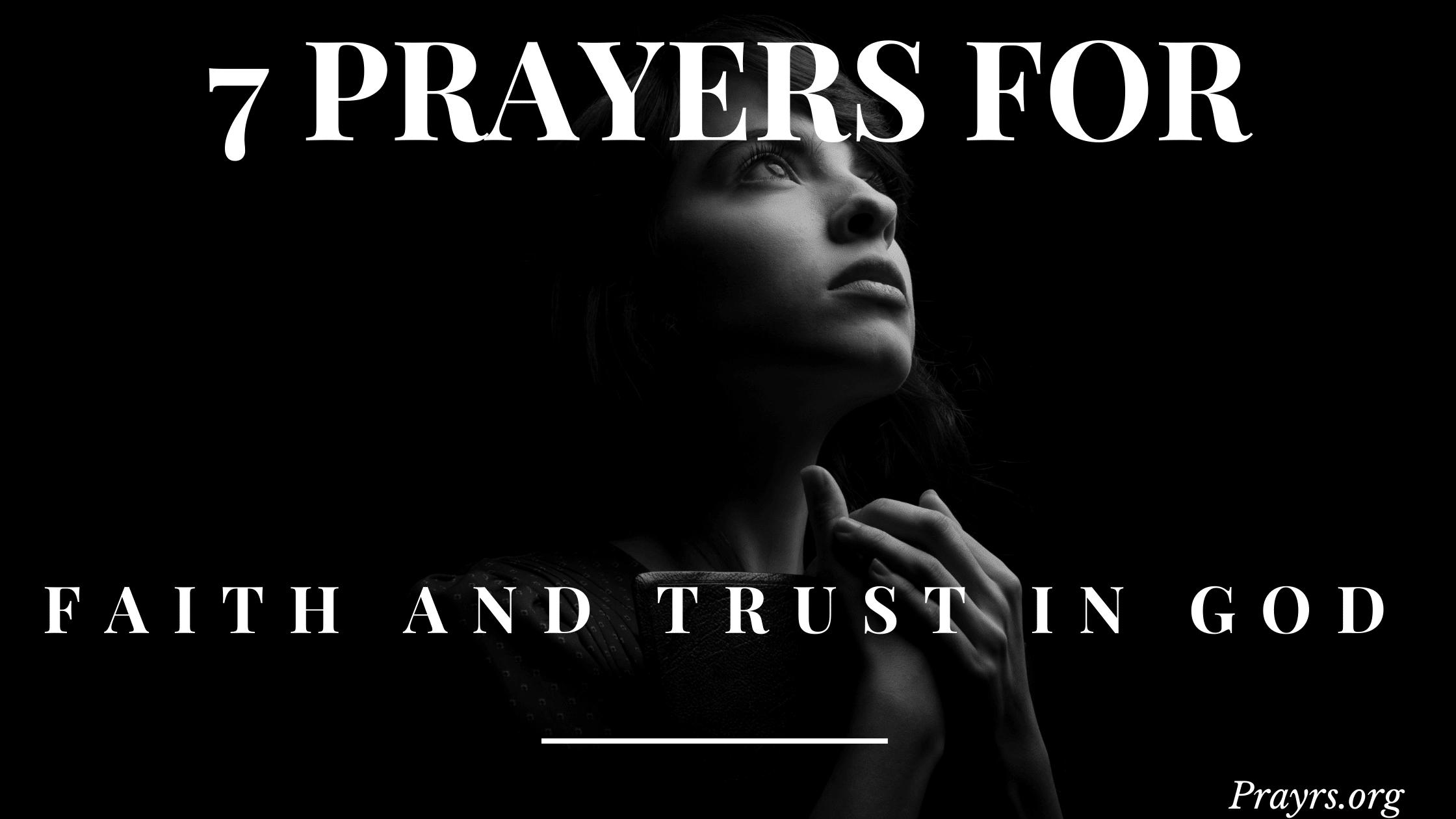 Prayers for Faith and Trust in God