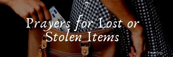 Prayers for Lost or Stolen Items