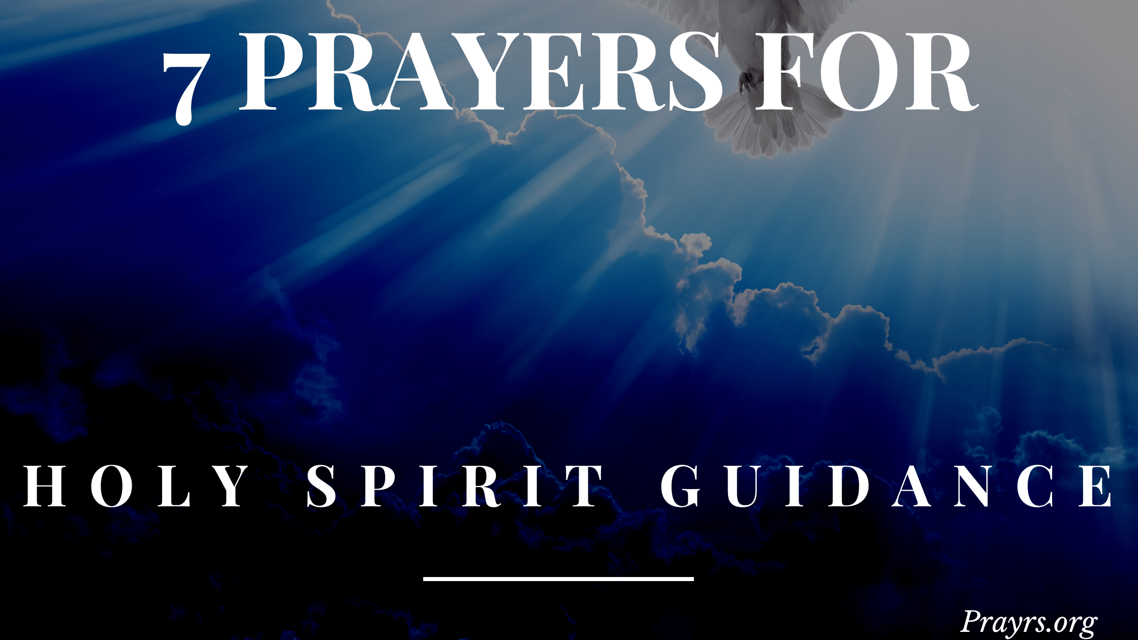 Prayers to the Holy Spirit for Guidance