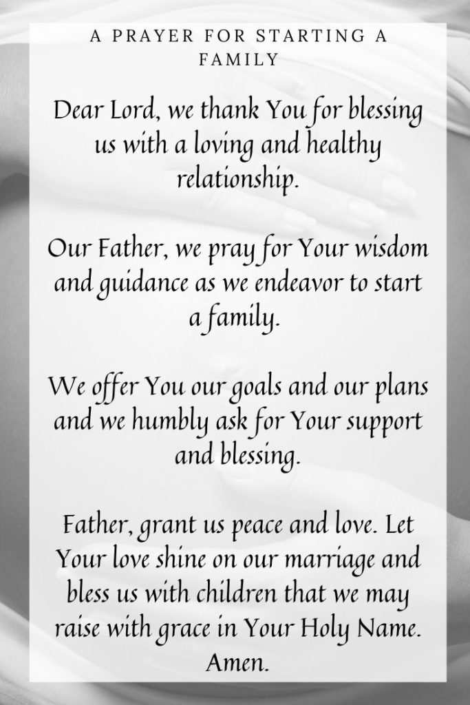 A Prayer for Starting a Family