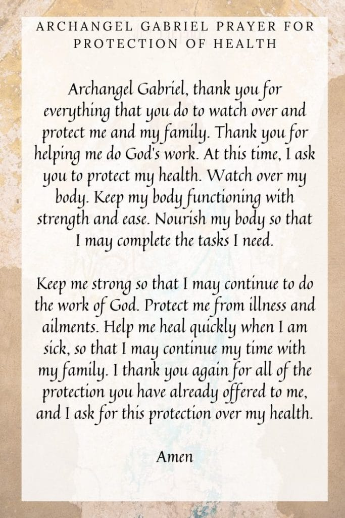 Archangel Gabriel Prayer for Protection of Health