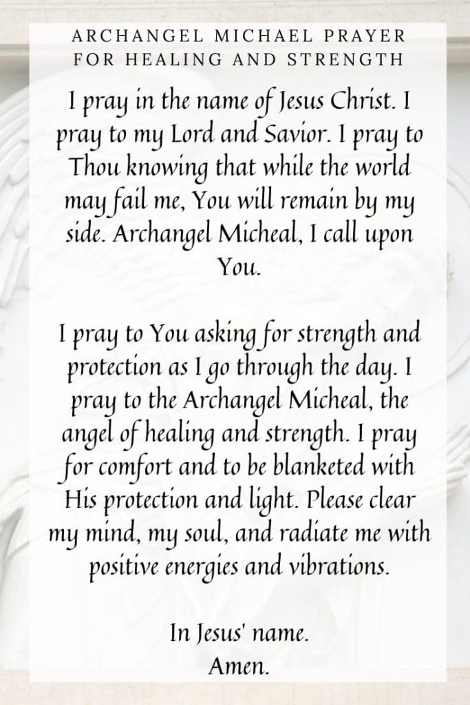 Archangel Michael Prayer for Healing and Strength