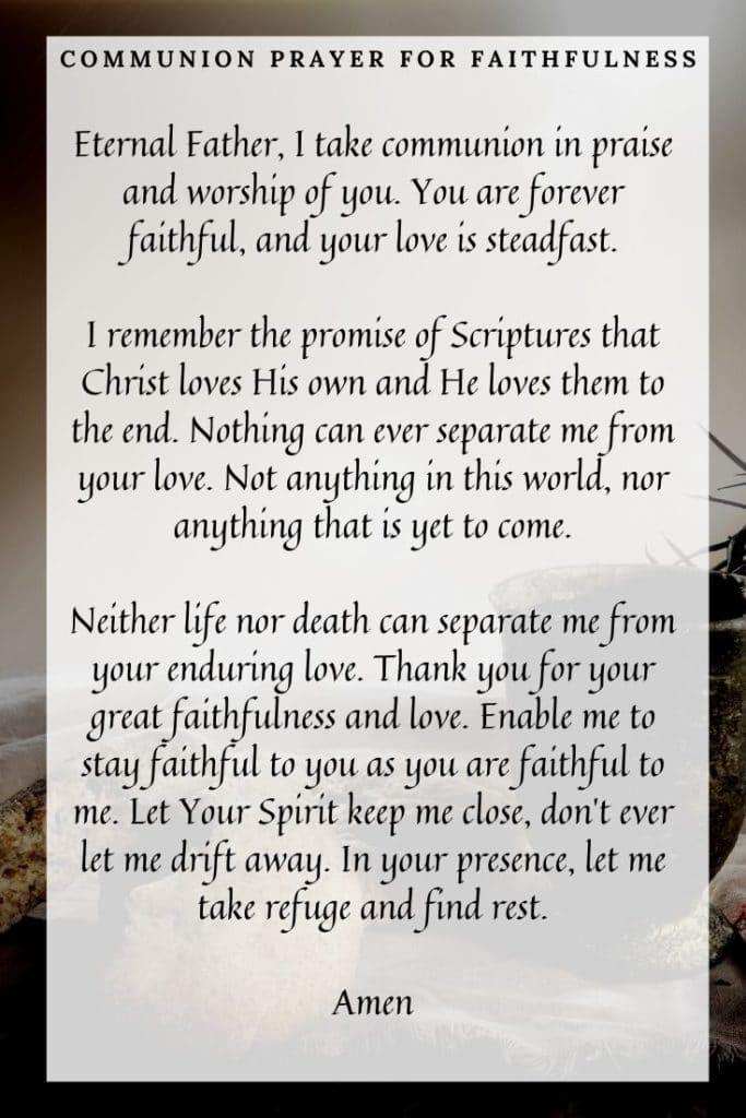 CommunionPrayer for Faithfulness