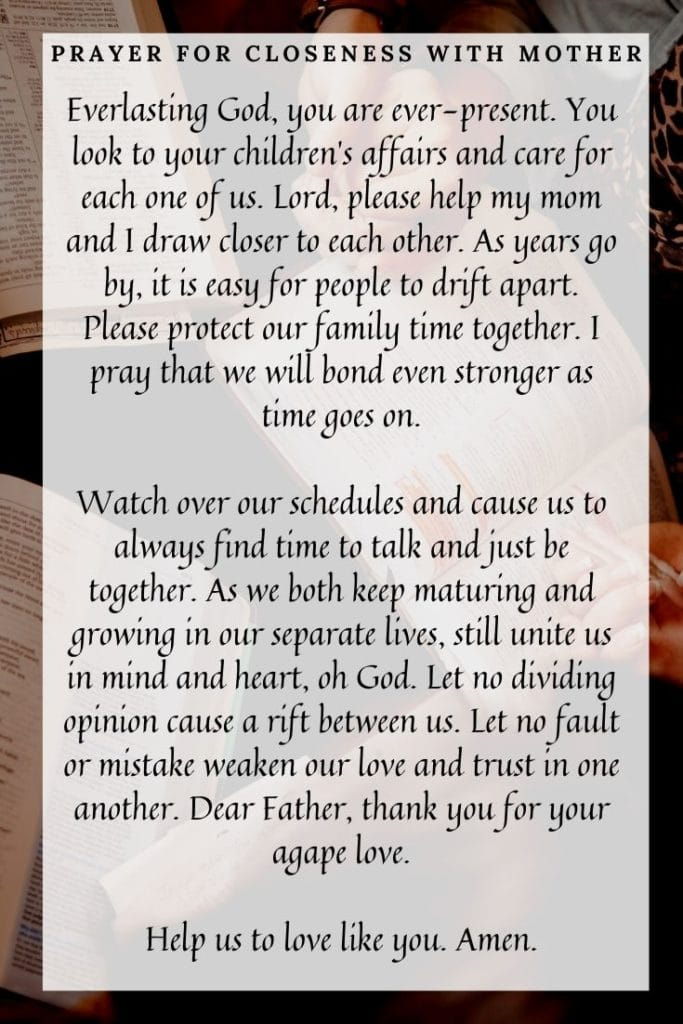 Prayer for Closeness With Mother