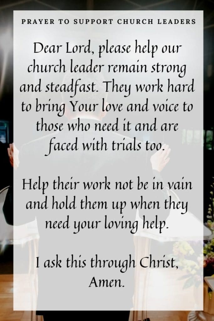 Prayer to Support Church Leaders