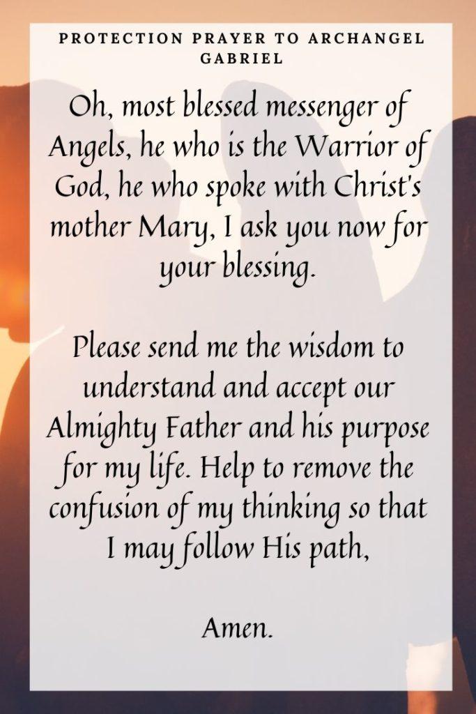 Protection Prayer to Archangel Gabriel