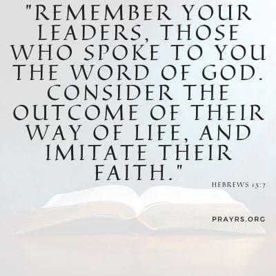 bible verse on church leadership