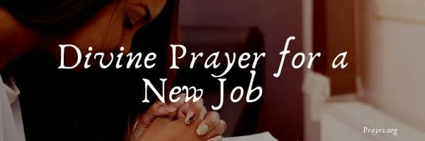 Prayer for a New Job
