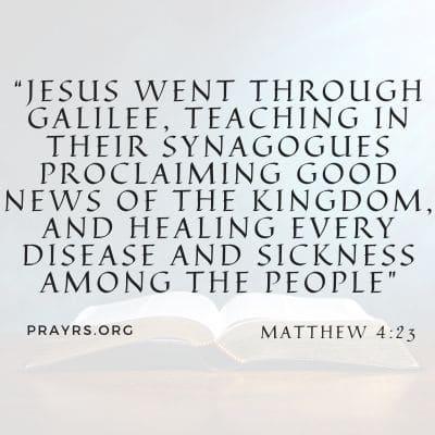 bible verse for healing