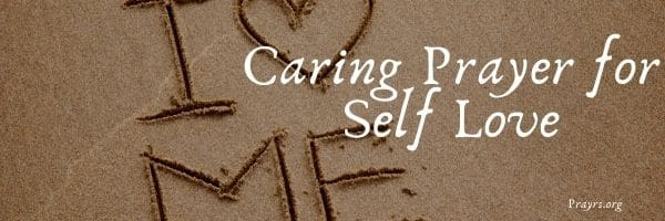 Caring Prayer for Self Love