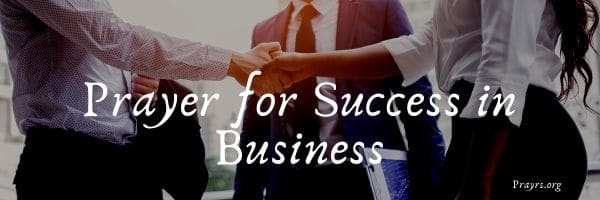 Prayer for Success in Business