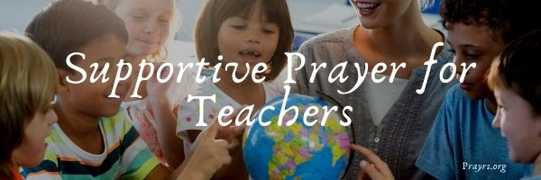 Supportive Prayer for Teachers