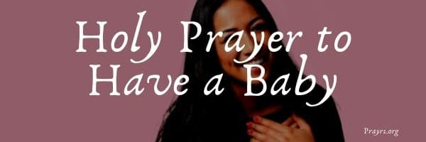 Prayer to Have a Baby
