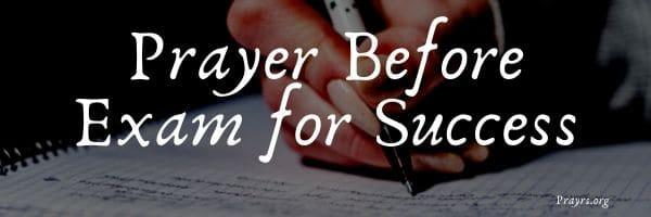 Prayer Before Exam