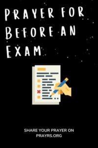 Prayer Before an Exam for Success