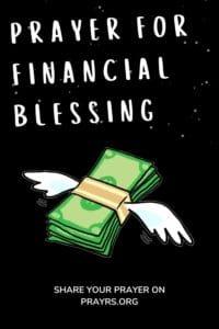 Prayers for Immediate Financial Blessing