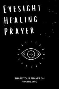 Eyesight Healing Prayer