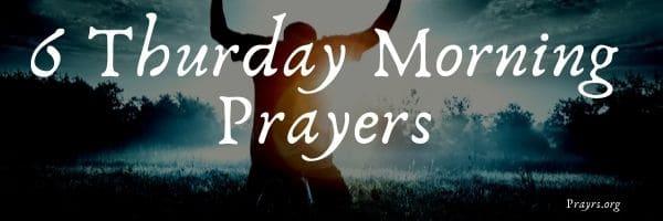 Thurday Morning Prayers