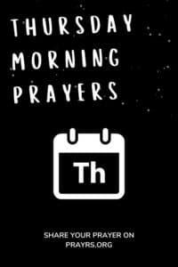 Thursday Morning Prayers