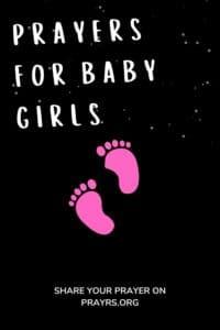 prayer for baby girls